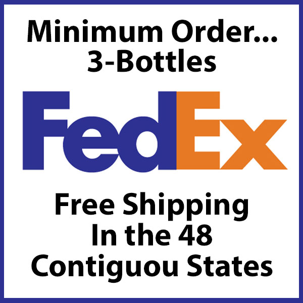 3 Bottle Minimum Free Shipping
